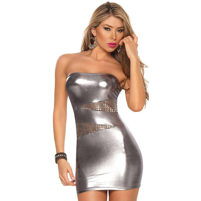 ผู้ใหญ่เซ็กซี่ชุดไนท์คลับ PU สิทธิบัตรหนังชุดชั้นในเร้าอารมณ์ Cosplay ฮาโลวีน Carnival Party แฟนซีชุด