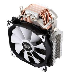 Image 4 - PUPAZZO DI NEVE CPU Cooler Master 4 tubi di Calore In Rame Puro freeze Torre di Raffreddamento Sistema di Ventola di Raffreddamento della CPU con PWM Ventole