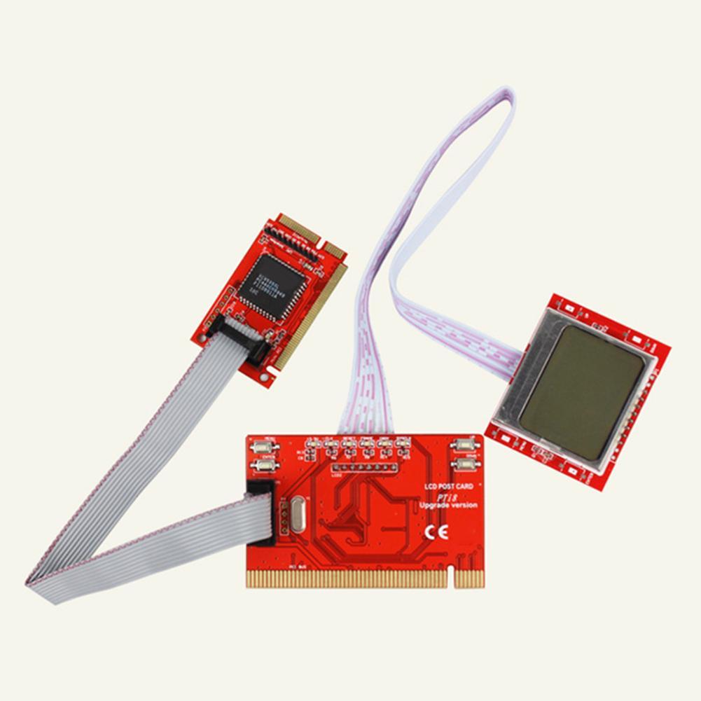 PTI8 Laptop Computer Tablet PCI Motherboard Diagnostic Tester Post Test Card Mini PCI/PCIE LPC Analyzer