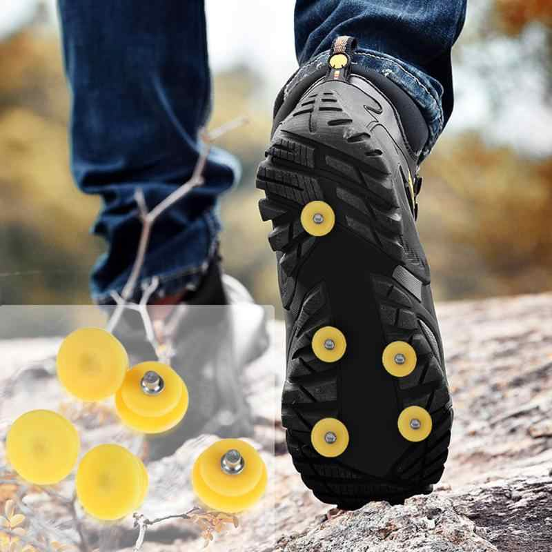 5 / 10pcs/set Outdoor Teeth Nail Climbing Ice Snow Crampons Spike Winter Anti-slip Shoe Cover for Climbing Fishing Travel Kit