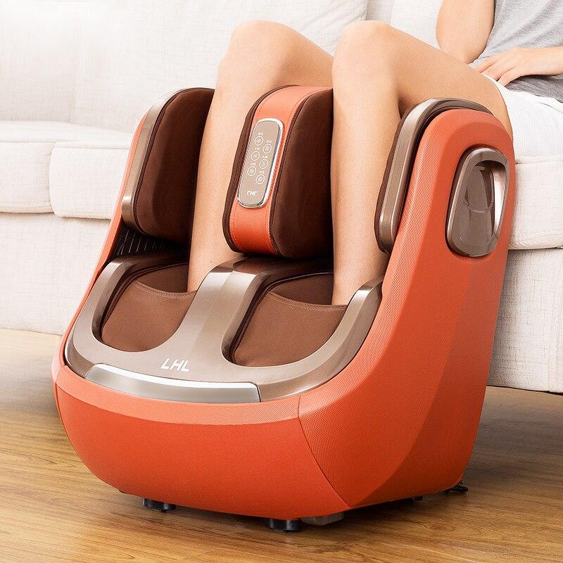 Elétrica Massager Do Pé E da Perna E joelho Pernas Bezerro de Aquecimento Infravermelho Máquina de Massagem de Pressão de Ar Massagem de Compressão de Ar