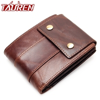 100% Genuine Leather Wallet Men Male Coin Purse Top Quality Cow Genuine Leather Men Wallet With Zipper Pocket Card Holder