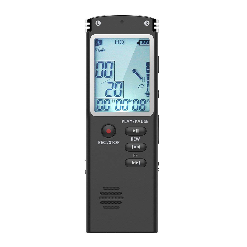 HFES Voice Recorder 8GB USB Audio Recorder With Mp3 Player, Small And Portable Digital Voice Recorder With HD Recording