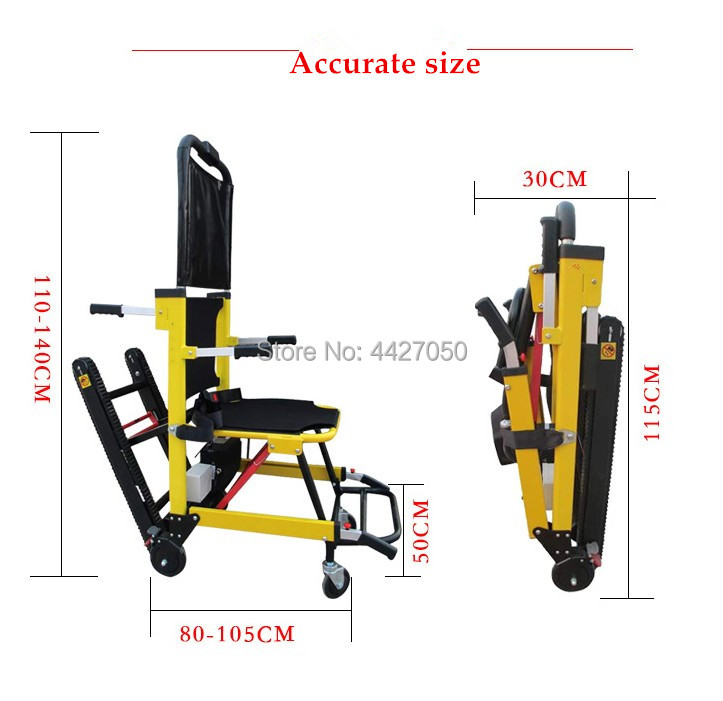2019 Folding electric stair climbing stretcher font b wheelchair b font for font b disabled b