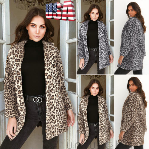 2018 New Fashion Autumn Lady Women Leopard Casual Loose Clothing Coat Jacket Outwear Clubwear Drop Shipping