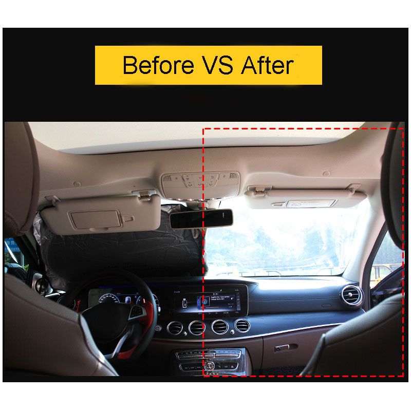 1Pcs Car Sunshades Front Rear Windshield Styling For <font><b>Mercedes</b></font> benz W204 W205 W210 W203 190E 200T 400E B180 B200 C220 C220TD C300 image