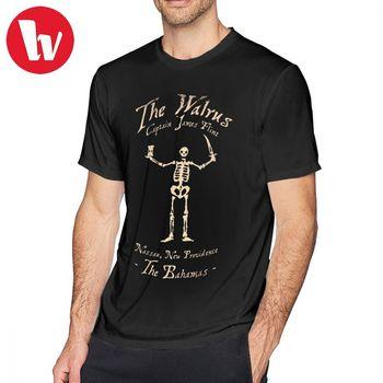Black Flag T Shirt Black Sails The Walrus T-Shirt Cotton Short Sleeve Tee Shirt Plus size Fun Graphic Mens Beach Tshirt