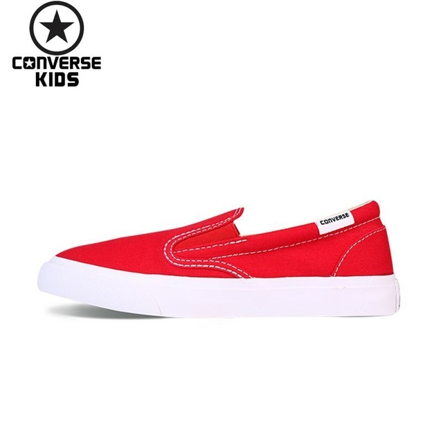 f7f335c618ca CONVERSE Children s Shoes New Arrival All Star White And Red Sneakers Boys  And Girls Breathable Shoes 651779C