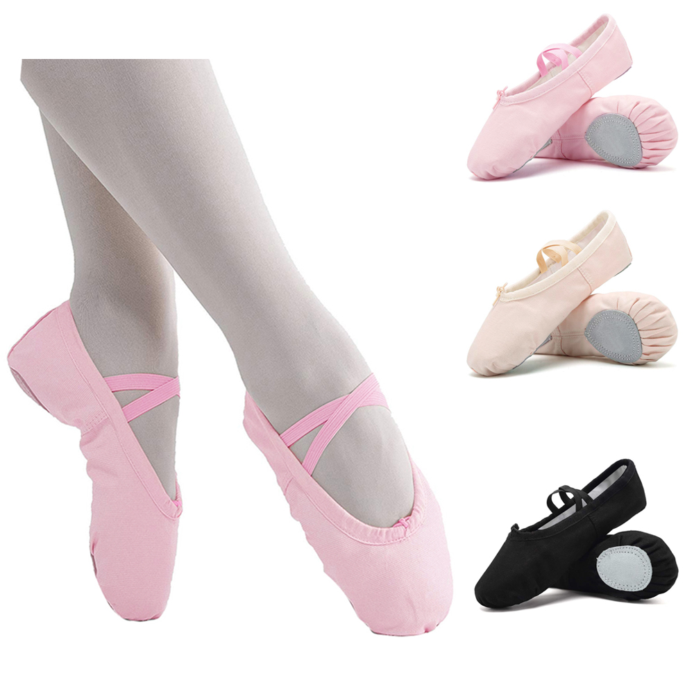 Canvas Ballet Shoes Canvas Dance Shoes Canvas Ballet Dance Shoes Slippers Girls Pointe Gymnastics
