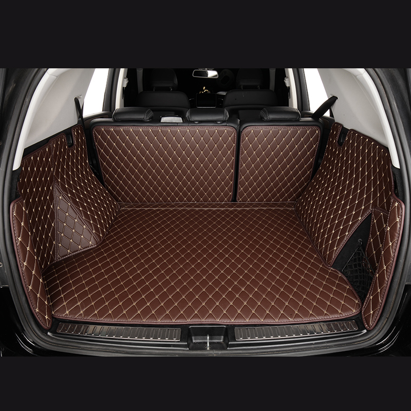 Car Trunk Mats for Volkswagen Golf VII 7 VI 6 Tiguan car accessories custom Cargo Liner