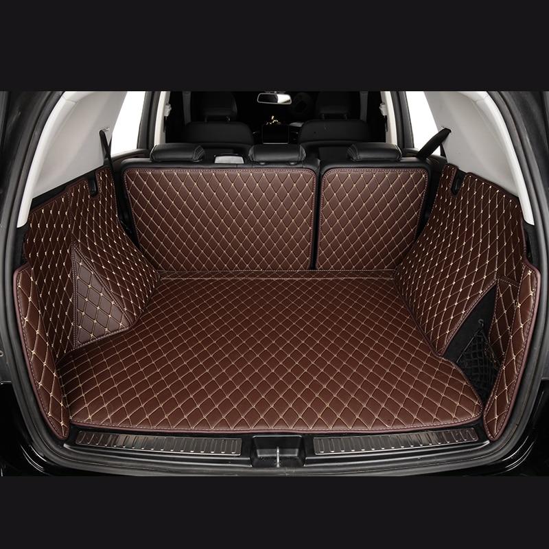 Car Trunk Mats For Volkswagen Golf VII 7 VI 6 Tiguan Car Accessories Custom Cargo Liner