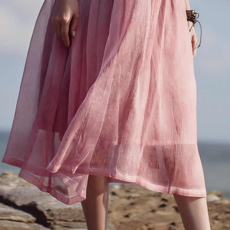 NINI PAESE DELLE MERAVIGLIE Estate Casual Vestito 2020 Donne Tintura Solido Classico Abiti Donna Vintage Midi Del Vestito Breve Confortevole Vestido