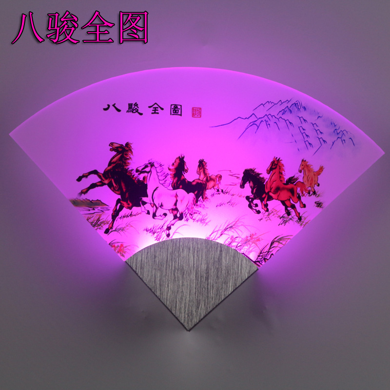 DE.SOUL Sector Pattern Led Wall Lamp A Living Room Aisle Bedside Wall Lamp Stairs Indoor Exhibition Room Hotel Wall Lamp