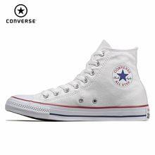 2d82f719d CONVERSE كل نجم الرجال و أحذية نسائية التزلج أحذية قماش عالية مساعدة  الكلاسيكية الصندوق الأبيض الحركة حذاء كاجوال #101009/10