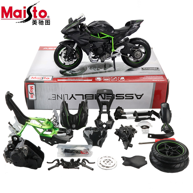 Maisto Alloy 1:12 Assembly Motorcycle Model Toy 3D Assembled Motor Bicycle H2R Building Kits Accessories Car Models Kids Toys(China)