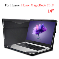 For Huawei Honor MagicBook 2019 14 Laptop Sleeve Case PU Leather Protective Cover For Honor MagicBook 14 Detachable Bag Case