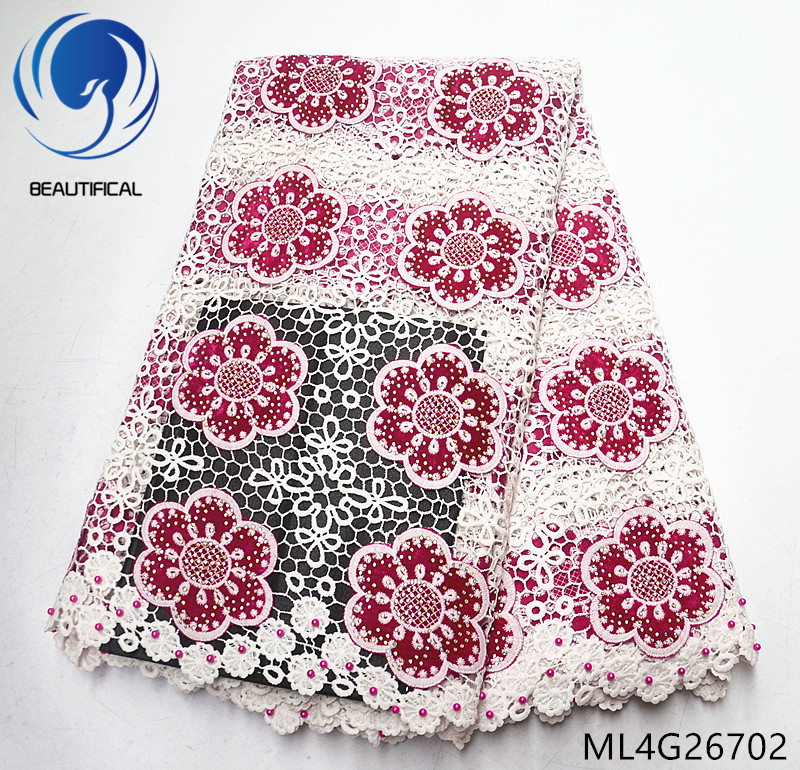 BEAUTIFICAL cord nigerian lace embroidery african guipure lace fabric polyester lace dresses ML4G267BEAUTIFICAL cord nigerian lace embroidery african guipure lace fabric polyester lace dresses ML4G267