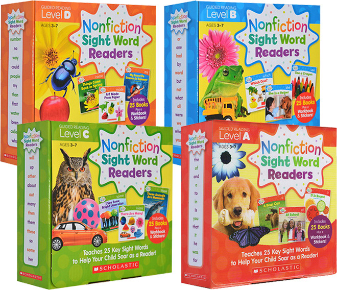Nonfiction Sight Word Readers Parent Pack Level A B C D Teaches 25/set key Sight Words to Help Your Child Soar as a Reader!Nonfiction Sight Word Readers Parent Pack Level A B C D Teaches 25/set key Sight Words to Help Your Child Soar as a Reader!