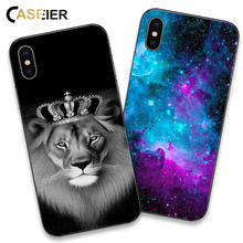 CASEIER Animal Patterner Phone Case For iPhone 6 6s Plus 7 8 Plus X Soft Silicone Cover For iPhone 6 6s 5 5s SE Funda Capinha цена и фото
