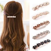 Korean Sweet Rhinestone Pearl Hairpins For Women Elegant Hairstyle Hair Clips Barrettes Hairgrip Hair Accessories For Girls Gift