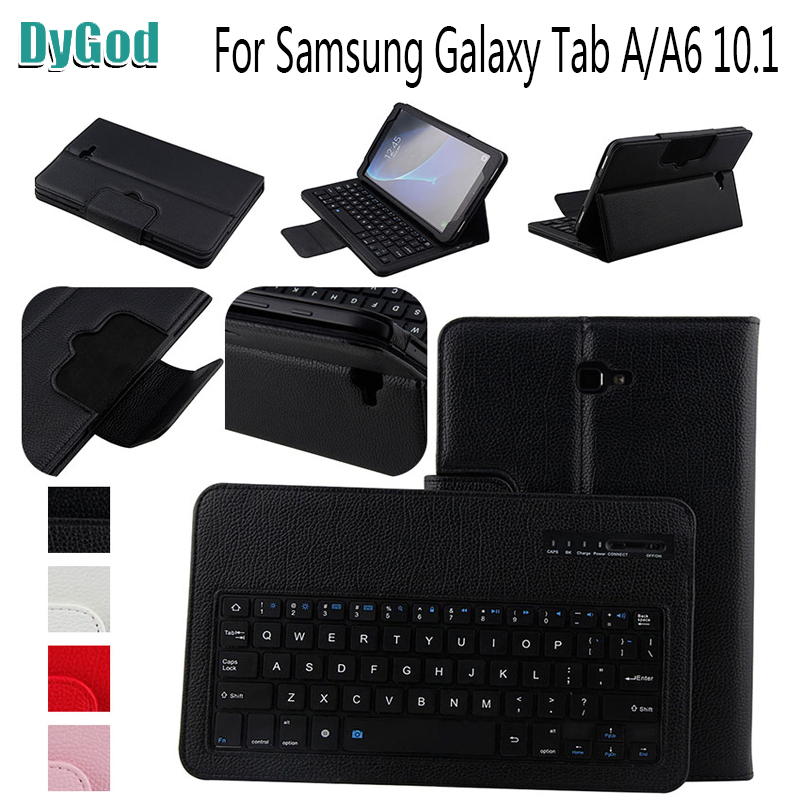 Removable Wireless Bluetooth Keyboard 10.1''for Samsung Galaxy Tab A A6 2016 T580 T585 T580N T585N 2-in-1 Portfolio Tablet Cover