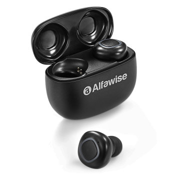 Alfawise V09 Mini Headset True Wireless Bluetooth In-ear Earphones Sweatproof Waterproof with Charging Case Earbuds