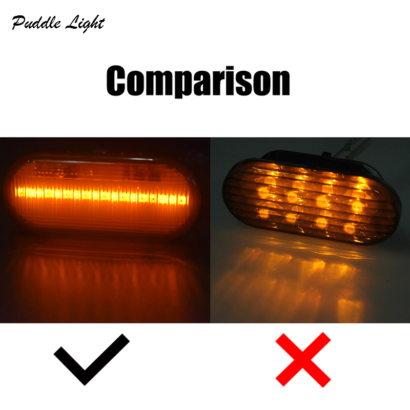 2x 18smd Led Side Marker Light for Volkswagen Bora Golf 3 4 Passat 3B 3BG Polo 6N 9N Sharan Vento lupo Turn Signals Indicator in Signal Lamp from Automobiles Motorcycles