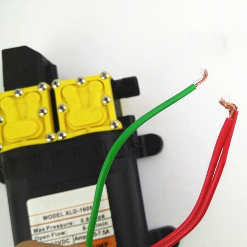 12V двухжильный электрическая распылительная установка головки двигателя, опрыскиватель Запчасти напор насоса 12V двухъядерный Мощность насос, сельскохозяйственный Электрический распылитель D