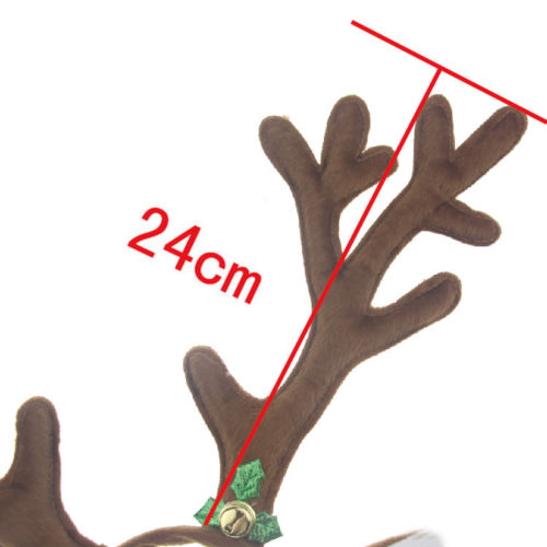 REINDEER ANTLERS WITH EARS CHRISTMAS FANCY DRESS OFFICE XMAS PARTY STAG DO