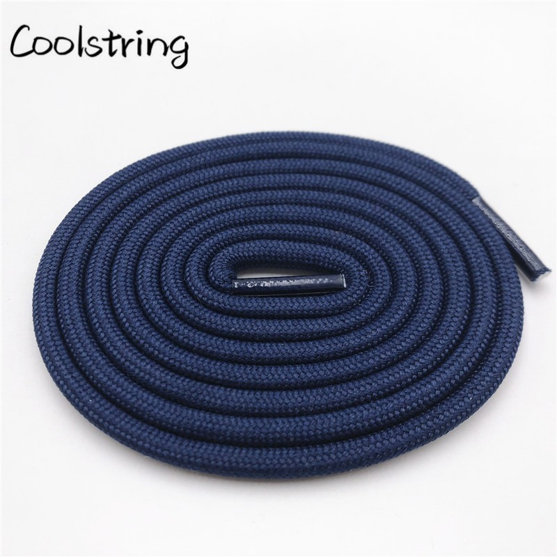 Coolstring New 0.5cm Round Sports Shoelace Thick Polyester Hiking Bootlaces Outdoor For Boots Kids Mens Basketball Shoe Laces