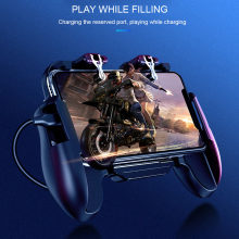 Game Mobile Gamepad Cooler Cooling Fan Api Pubg Mobile Game Controller Gamepad Joystick Logam L1 R1 Pemicu(China)