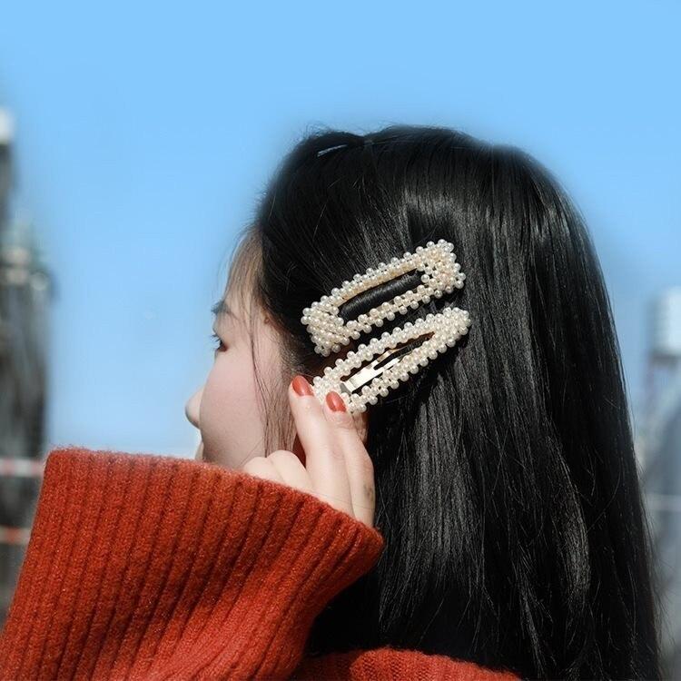 Korea Imitated Pearl Beads Hair Clips For Women Fashion Hair Pin Barrette Set HairPins Girl Hair Accessories handmade Hairgrip