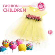 Summer  Baby Girl Floral Princess Dress Toddler Infant Girls Sleeveless Mesh Round Neck Tutu Dresses Kids Birthday Party Clothes kids clothing summer dresses girls toddler girl princess dress sleeveless polka dots bowknot lovely birthday party sundress hot