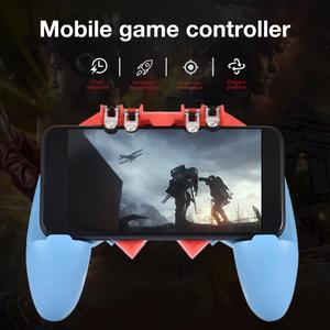 Image 3 - Or AK65 PUGB Helper Mobile Phone Handle Mobile Game Controller Six Finger All   In   One Mobile Controller Game Joystick Gamepad
