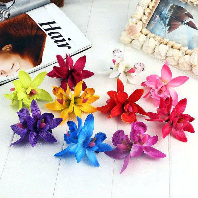 Flower Bridal Women Summer Fashion Barrette Wedding Beach Hairpin Headwear Holiday Hair Accessories New Orchid Hair Clip Bohemia