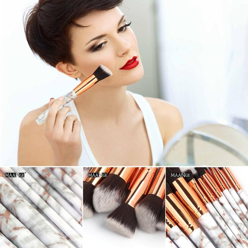 15pcs Makeup Brushes Set Foundation Powder Face Make Up Brushes Multifunctional Cosmetic Storage Bag Professional Makeup