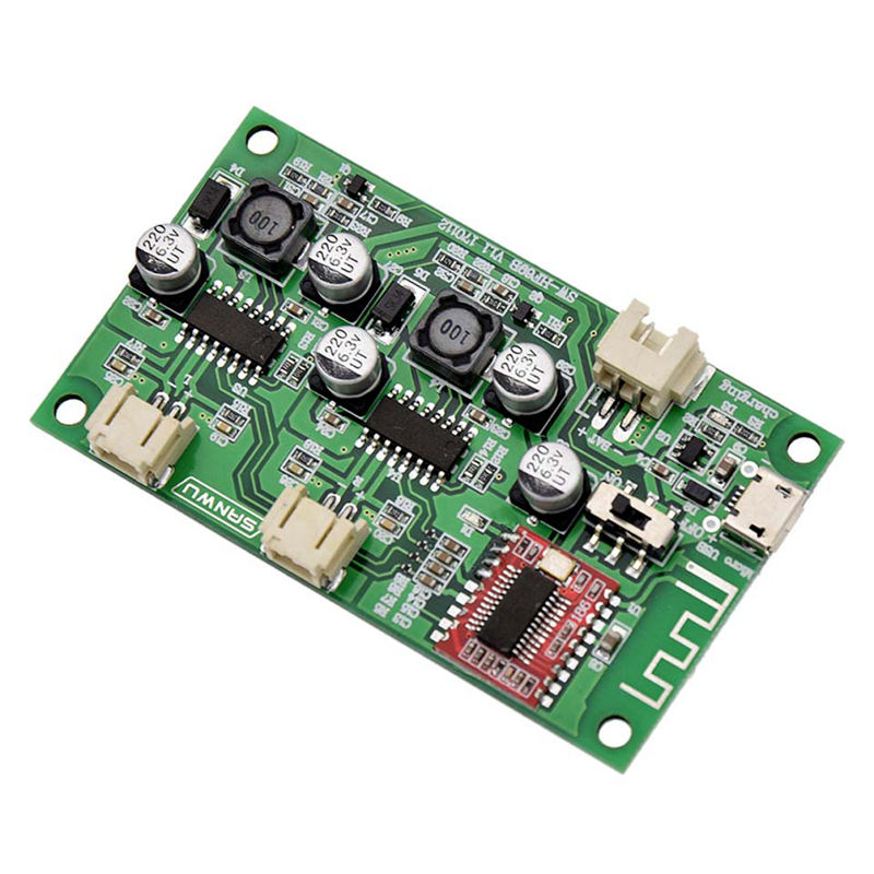 Hot TTKK 2X6W Dc 5V 3.7V Speaker Modified Stereo Bluetooth Amplifier Board Can Connected Lithium Battery With Charge Managemen