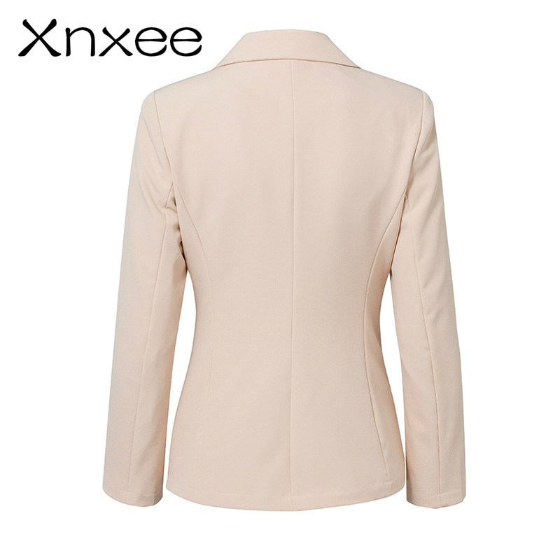 Xnxee Lace up work ladies suits blazer Women double breast business female office suit Elegant pink winter jacket coat outwear