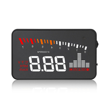 X5 Car HUD Head Up Display Vehicle OBD2 Car Speedometer Windshield Projector Driving Speed Alarm Voltage MPH KM/H Display цена и фото