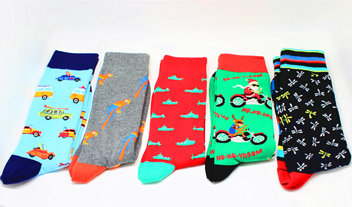 Underwear & Sleepwears Colorful Painting Novelty Funny Socks Casual Cotton Happy Socks Men Dress Wedding Socks Clacetines Hombre Divertidos Sufficient Supply