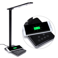Press Control Led Desktop Lamp Qi Wireless Charging For Samsung Galaxy S7 Edge Desk Led Lamp With Qi Enabled Wireless Charger