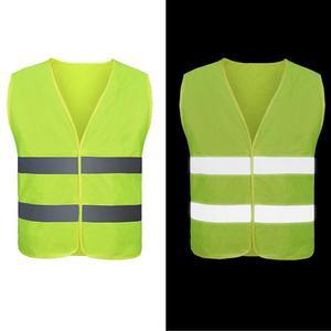 Image 3 - Unisex Car Motorcycle Reflective Safety Clothing High Visibility Safety Reflective Vest Warning Coat Reflect Stripes Tops Jacket