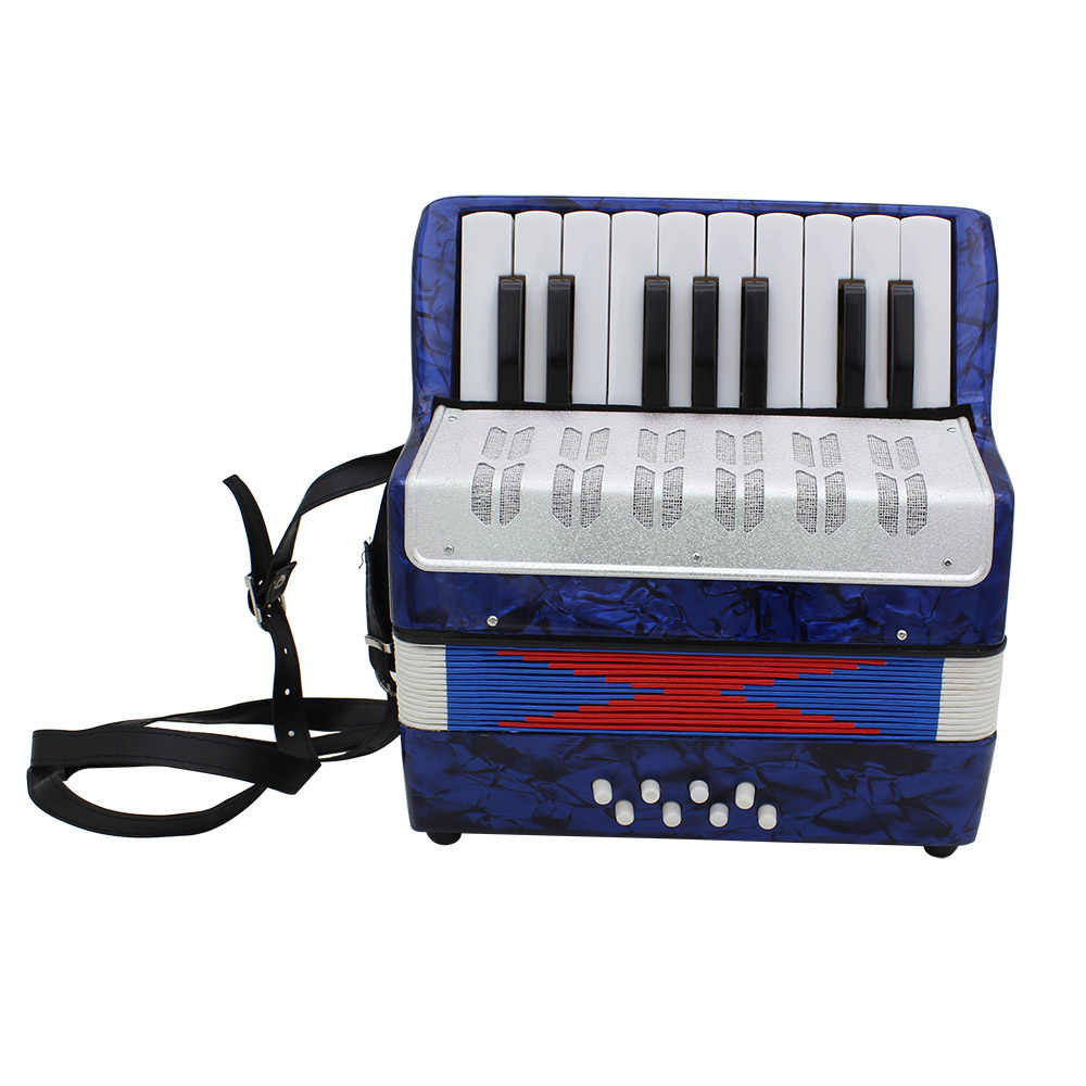 عالية الجودة البسيطة 17-مفتاح الأكورديون دائم 8 باس الأكورديون التعليمية آلة موسيقية لعبة ل الهواة المبتدئين أفضل هدية