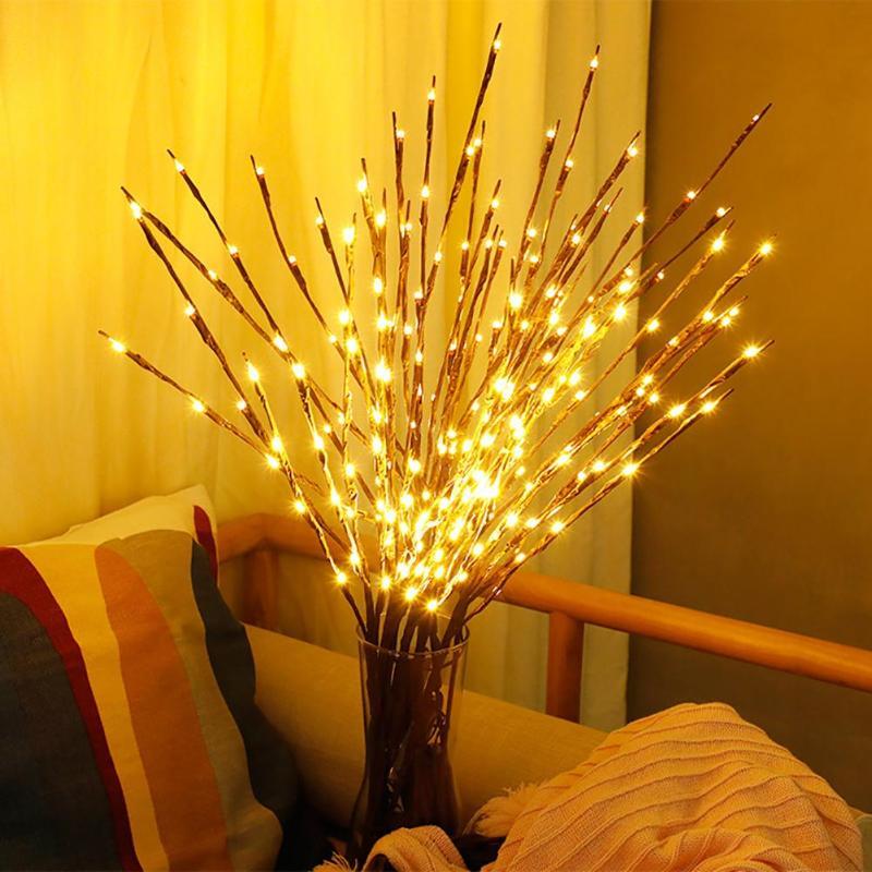 1 X Branch LED String Tree Shaped Light For Vase Decor Mini Home Party Christmas Tree Lamp Table Desk Night Light Party Decor