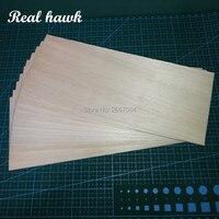Balsa Wood Sheet ply 200mm long 100mm wide mix of 0.75/1/1.5/2/2.5/3/4/5/6/7/8/9/10mm thickness each 1 piece model DIY