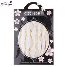 Monja Nail Art Stickers Laser Gold Metal Stripe Line Tape Self-Adhesive Transfer Foils Decals DIY Tips Manicure Decoration