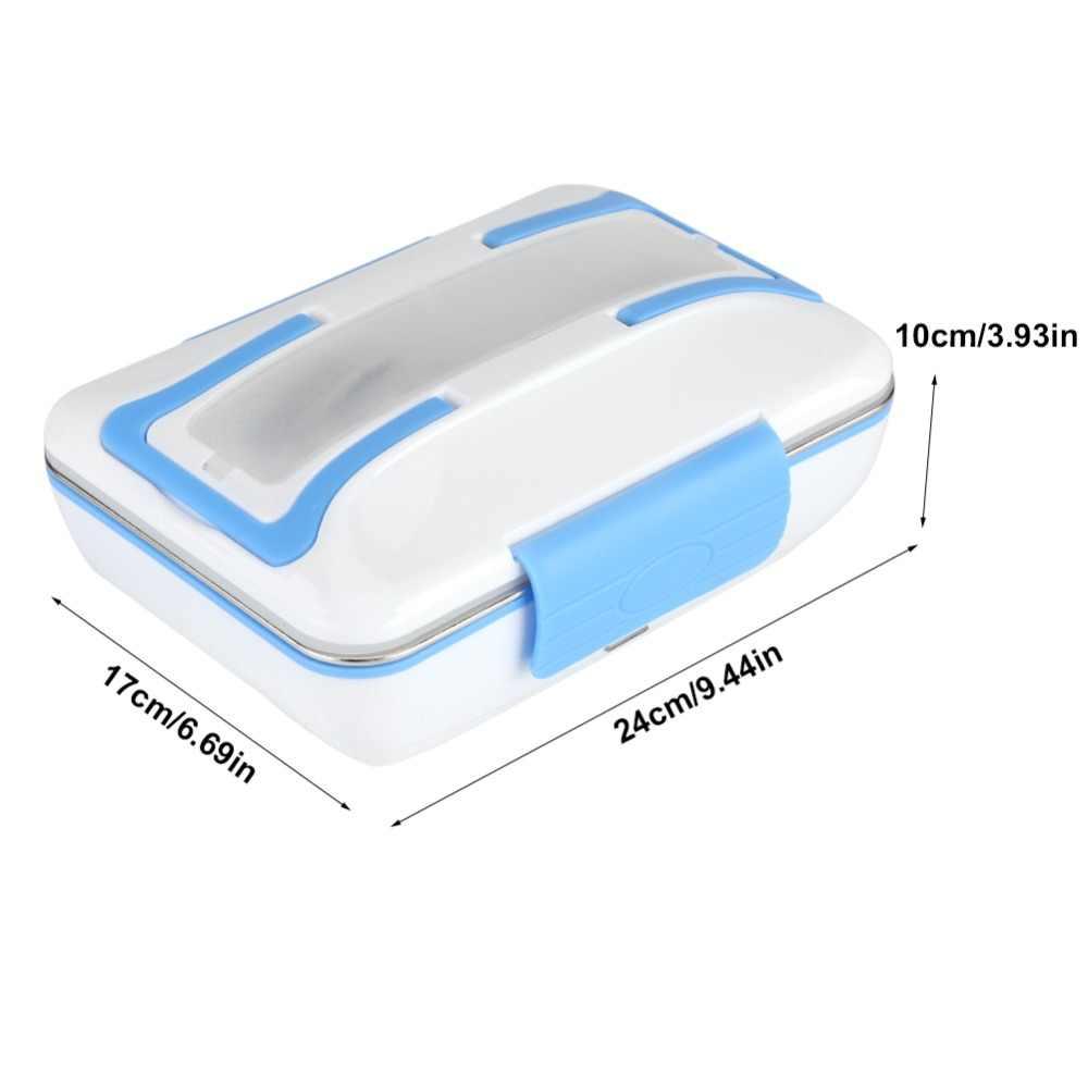 Orginal samochodów 12 V 40 W elektryczne pudełko na drugie śniadanie z możliwością podgrzewania wewnętrzna ze stali nierdzewnej garnek żywności ogrzewania ogrzewane pudełka na kanapki elektryczny podgrzewacz ciepłej żywności