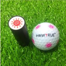 Plastikowa + silikonowa piłka golfowa Stamper pieczęć pieczęć wrażenie Marker prezent z nadrukiem nagroda akcesoria do golfa dla golfa tanie tanio MagiDeal Szachy karty Trener huśtawka 5 3cm 2 09in 2 1cm 0 83in Plastic + Silicone Golf Ball Stamper Golf Ball Marker Golf Ball Seal