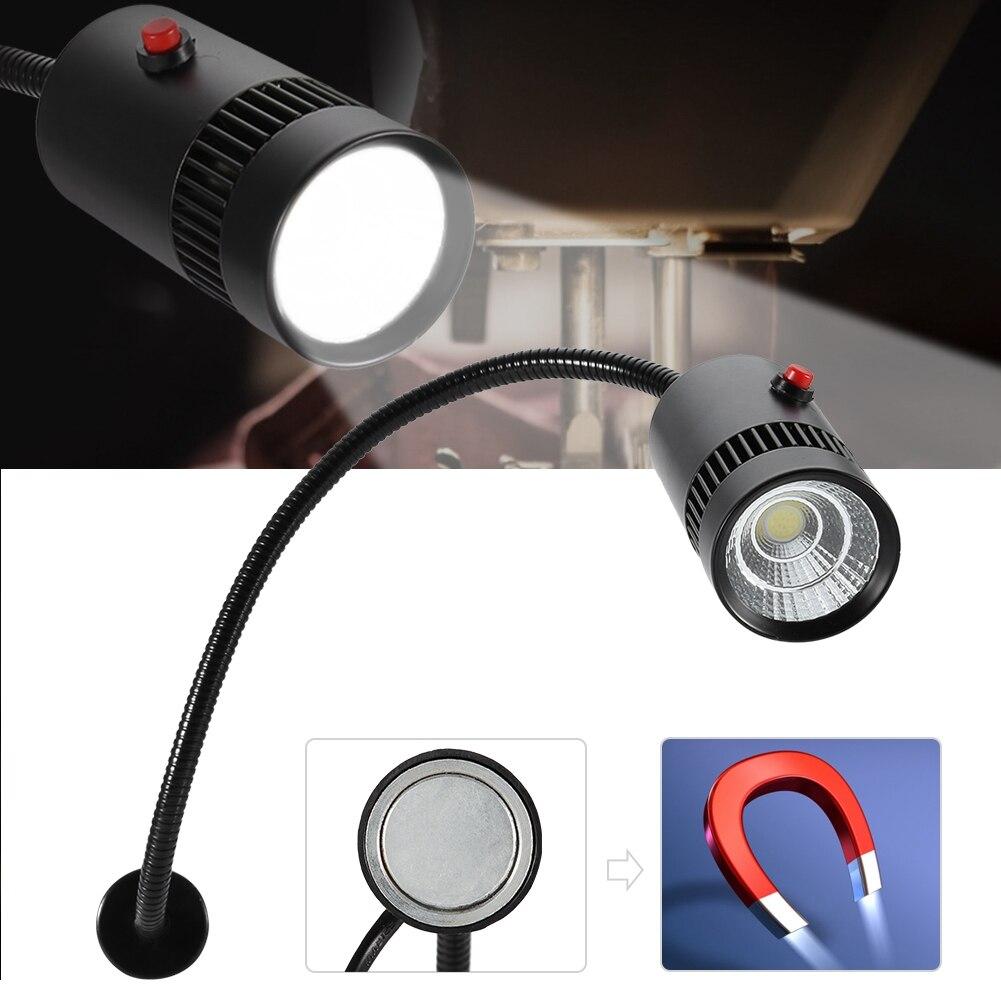 7W 110-220V LED DİKİŞ MAKİNESİ işığı ayarlanabilir boyun makine aracı torna lambası manyetik montaj ile abd fiş