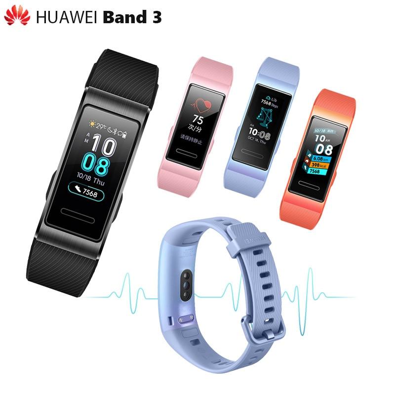 Original Huawei Band 3 3 Pro Smartband Metal Frame Amoled Full Color Display Touchscreen Swim Stroke